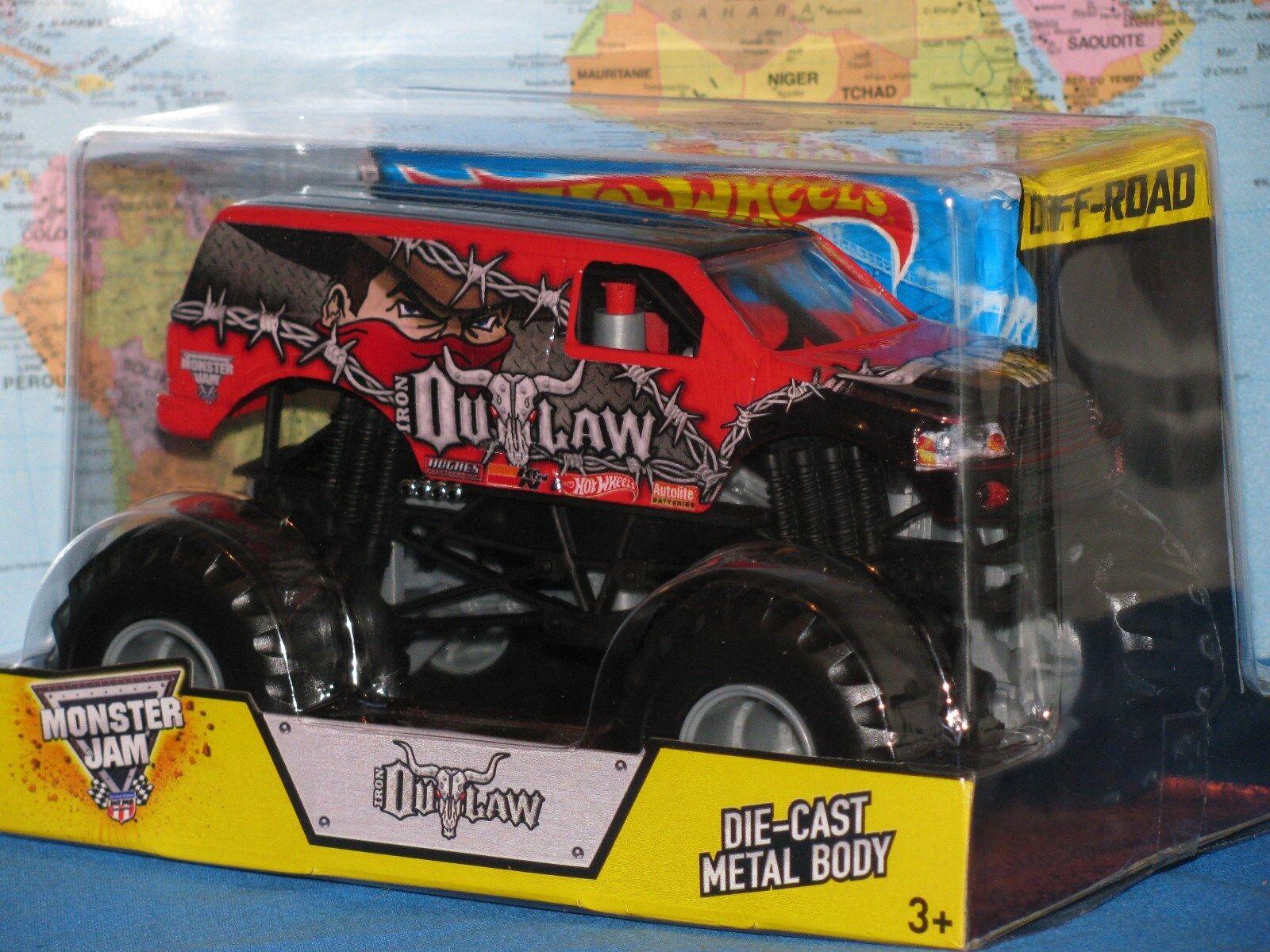 1 24 Hot Wheels Confiture de Monstre Camion Outlaw Hors-Piste Moulé Métal