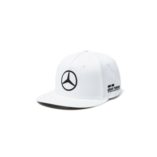 8ceb7eaaffd NEW 2018 Mercedes AMG F1 Adults Lewis Hamilton FLATBRIM Cap Hat WHITE –  OFFICIAL