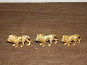 VINTAGE-3-MINI-SOLID-BRASS-2-3-8-034-LONG-LIONS