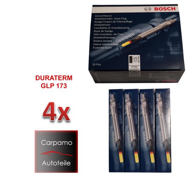 4x BOSCH Glühkerzen Set Duraspeed GLP173 0250603006 BMW 12230035934