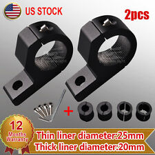 "2 X 1"" 20-25mm Off Road Bull Mount Bracket Tube Clamps For HID ATV Led Light Bar"