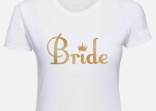 Personalised Hen Party Original Design Crown Bride T Shirt 2018