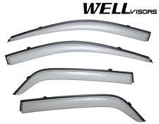 WellVisors Side Window Visors Rain Guard W/ Black Trim For 04-10 KIA Sportage