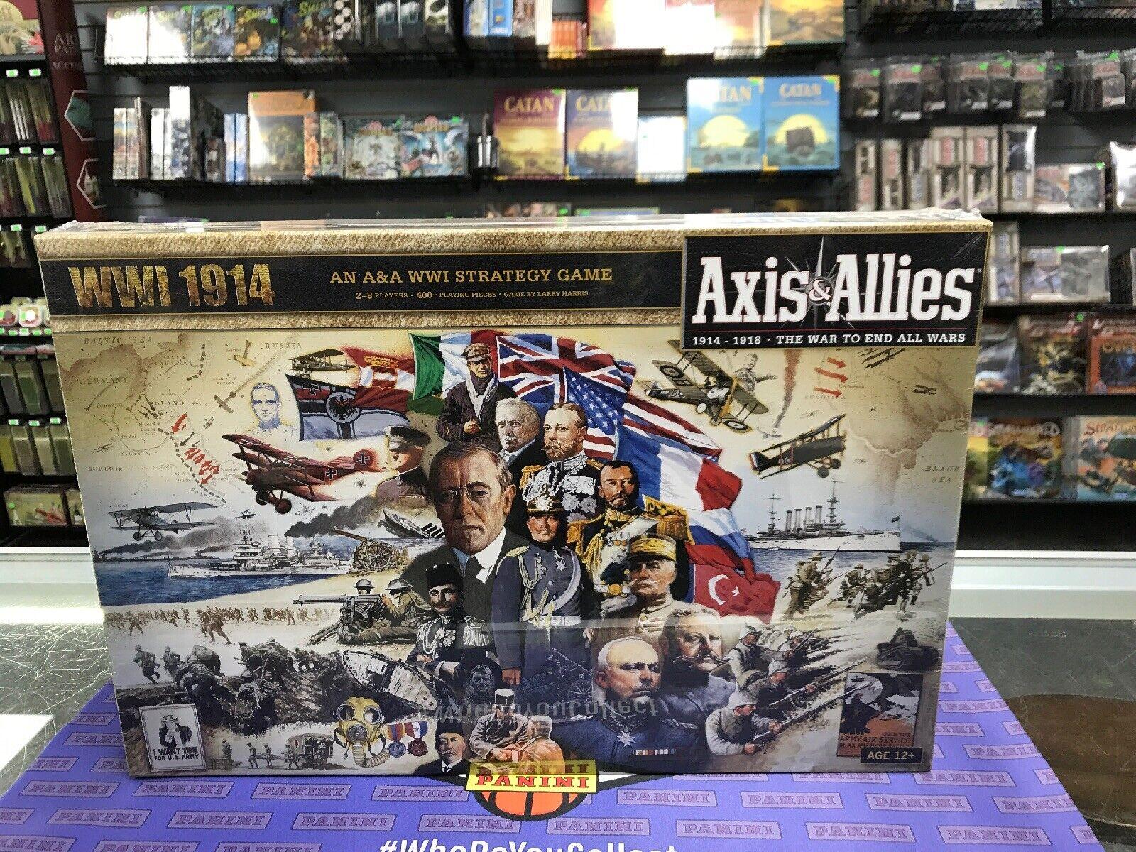 Axis & Allies 1914 World War Juego De Mesa Nuevo Sellado De Fábrica 1st impresión fuera de paquete