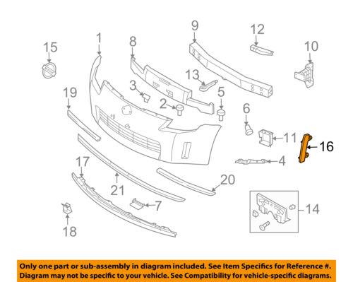 NISSAN OEM 03-05 350Z-Bumper Trim-Reflector Right 26140CD000