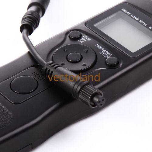 Cable de control remoto temporizador LCD FR OLYMPUS E3 E5 E10 E20 C8080 C7070 C2500L