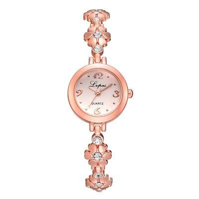 LVPAI Women Mini Dial Wrist Watch Steel Crystal Bracelet Band Quartz Watches New
