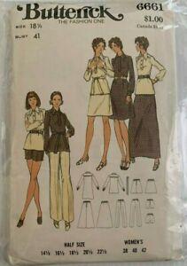 Vintage-6661-Butterick-Moda-Uno-Patron-de-Costura-Talla-18-1-2-Busto-104cm
