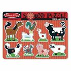 Melissa & Doug Farm Animals Sound Puzzle 8pce