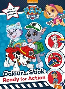 Details about Paw Patrol Colour And Stick Activity Book  Kids Christmas  Gift  Stocking Filler