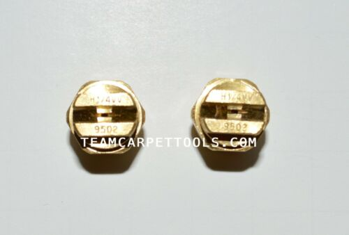 """2 count Carpet Cleaning Wand Replacement Brass 1//4/"""" V-Jets 9502 Vee Jets"""