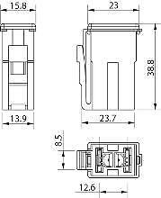 75 Amp Pal Japanese Fuse Slow Blow 2935 Series Grey 12V 24V 32V Cargo 191834