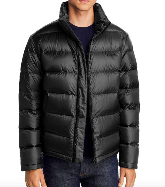 hugo boss puffa coat