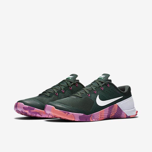 2018 Hommes Nike Metcon 2 Amplify SZ 12 Pine rose vert rose Pine Violet Crimson 819902-315 45010d