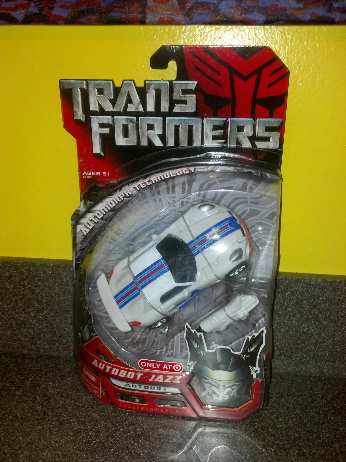 Autobot Jazz Target Exclusive Deluxe Class Transformers Action Figure, 2007 NIB