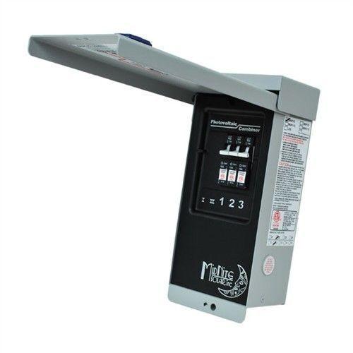 Midnite Solar MNPV3 PV Combiner Breaker / Fuse Box-Includes (3) MNEPV30 Breakers