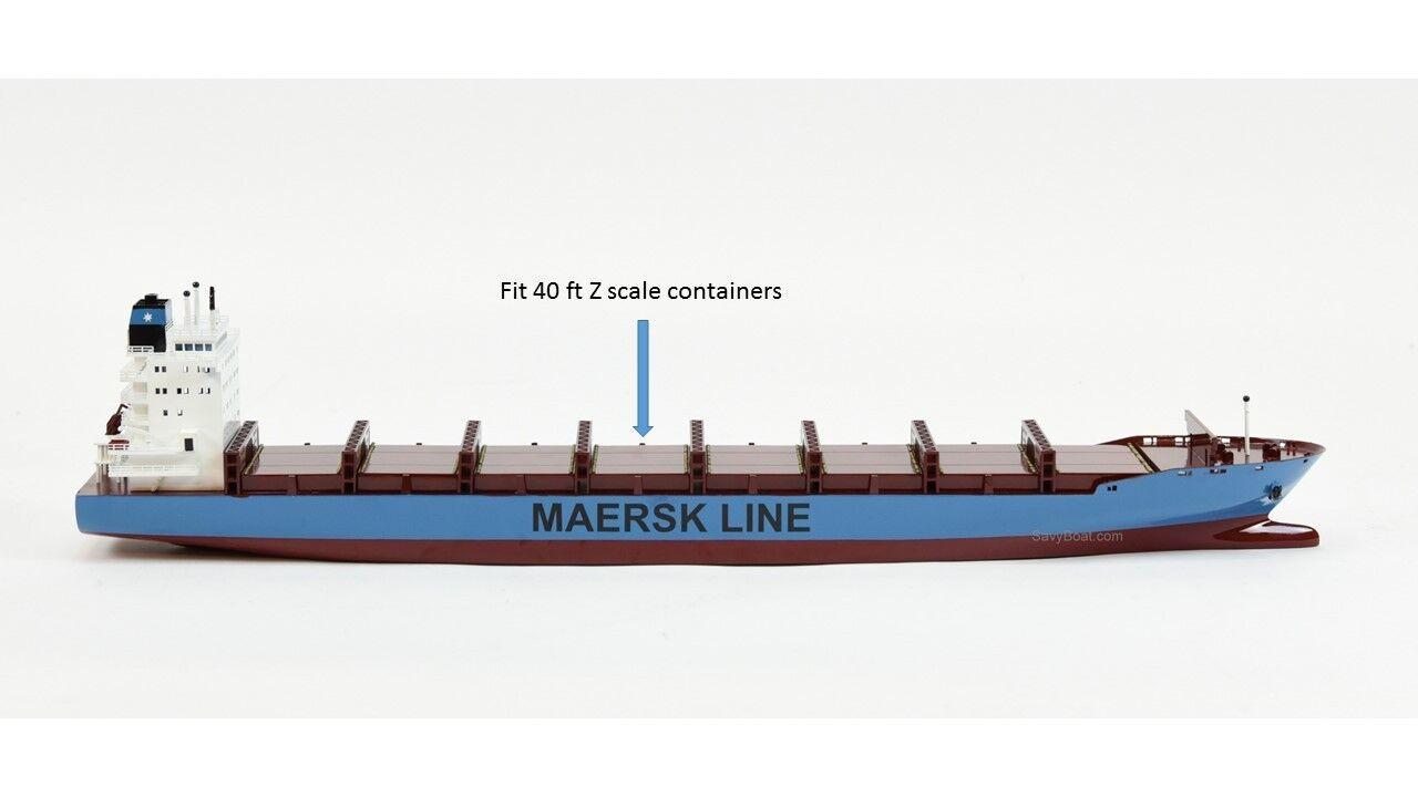 Maersk Alabama Handmade Wooden Ship Model 28  Z Scale