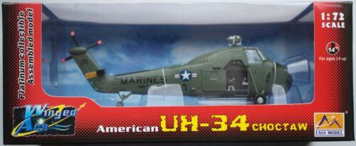 EASY Model uh-34 Choctaw HELICOPTER ELICOTTERO HELI US Marines 1:72 Nuovo//Scatola Originale