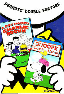 Peanuts-Double-Boy-Named-Charlie-Brown-Snoopy-Come-Home-New-amp-SEALED-Region-1