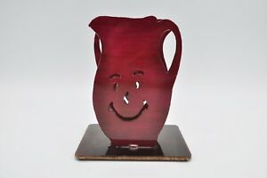 Vintage-Kool-Aid-Man-Napkin-Holder-Handmade-Metal-Koolaid-Decor-Drink-Rare