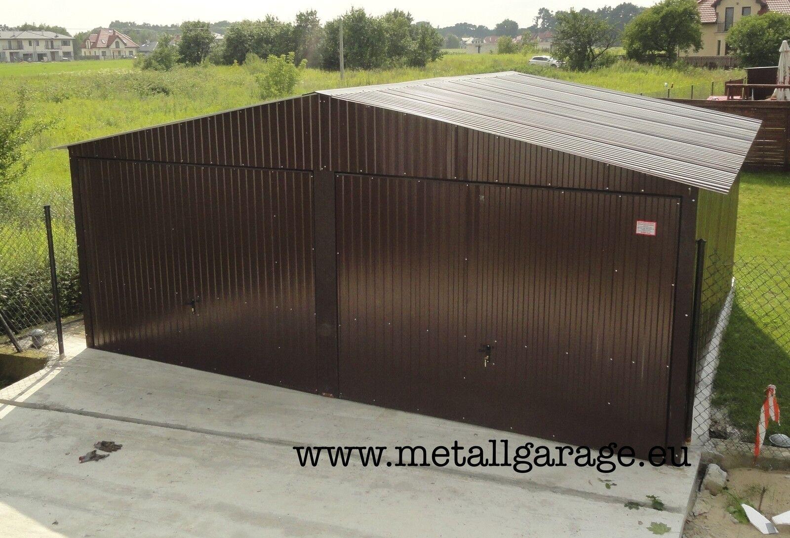 RAL 8017 6x4.5 Blechgarage Fertiggarage Metallgarage LAGERRAUM RAUM KFZ GARAGE