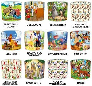 Kids Lampshades Ideal To Match Fairy Tales Story Bedding