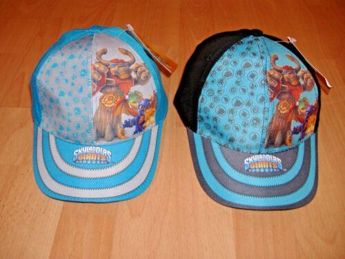 NEW BOYS SKYLANDERS GIANTS CAP HAT BLACK BLUE BLACK AGE 2-4 4-8 YEARS