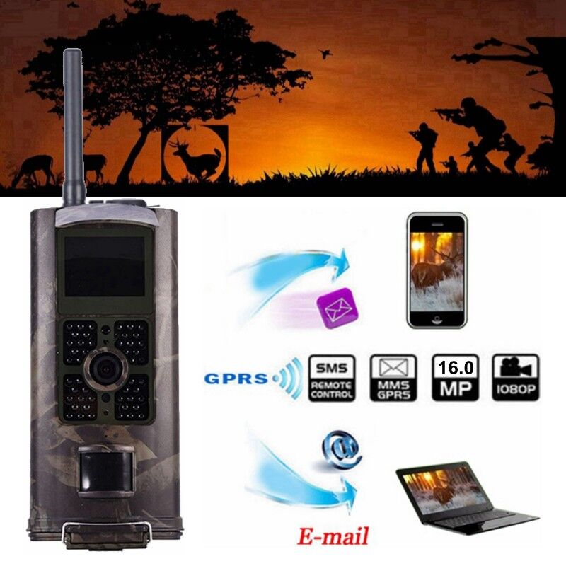 SunTek HC-700G 16MP 3G GPRS HD 1080P 120  Video Wildlife IR Trail Hunting Camera