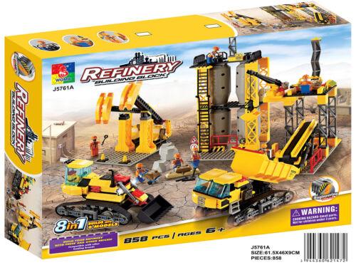 Woma Raffinerie Baustelle 8 in 1 Bausteine Set 858 Teile J5761A
