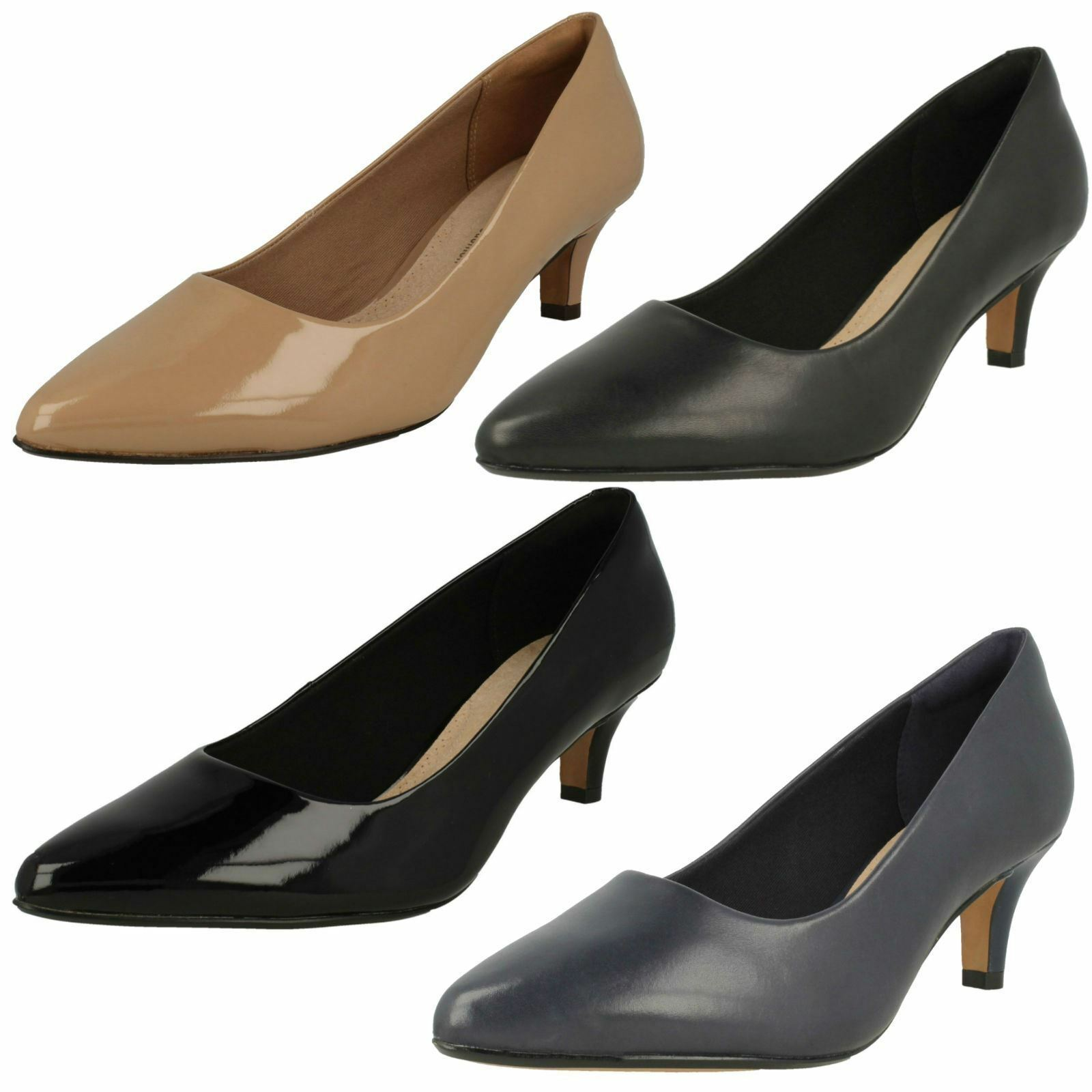 Man/Woman Clarks Ladies Court Shoes 'Linva Jerica' Innovative design Let our products go to the world Acknowledgement feedback