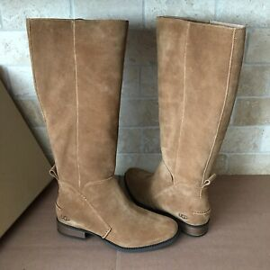 4d1af1f3c72 Details about UGG Leigh Chestnut Suede Equestrian Riding Knee High Tall  Boots Size 8.5 Womens
