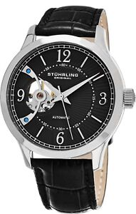 Stuhrling-Men-s-Automatic-Wind-Open-Heart-Watch-Genuine-Leather-Strap-987-02
