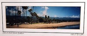 Santa Barbara CABRILLO Boulevard Panoramic Photograph California CA Framed LA
