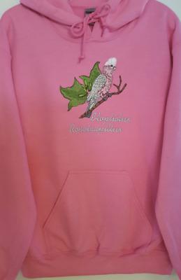 Umbrella Cockatoo Embroidered on a Charcoal Hooded Sweatshirt Sm-5XL