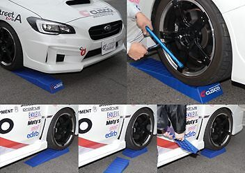 PAIR GENUINE CUSCO low profile car tyre tire slopes ramps jack stand lowered