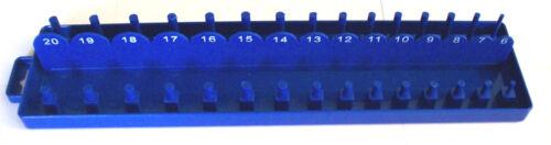 168pc GOLIATH INDUSTRIAL SOCKET TRAY RACK RAIL HOLDERS BLACK//BLUE DEEP SHALLOW