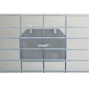 Lot 12 Aluminium Carte D'identité Supports Pour 7.6x12.7cm Index Cages Caisse