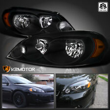 For 2006 2013 Chevy Impala 06 07 Monte Carlo Black Headlights Lamps Leftright Fits 2006 Impala