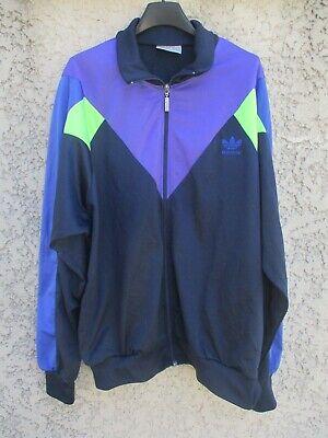 Veste ADIDAS sport années 80 vintage Trefoil jacket giacca jacke 42 44 L XL | eBay