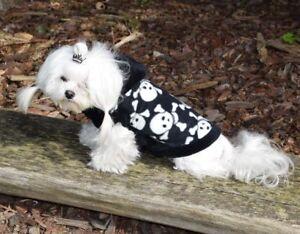 Pull pour chien, manteau pour chien, manteau pour chien * Skully Noir-Blanc