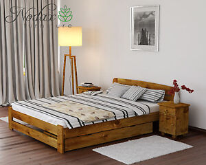 Solid Pine 4ft Small Double Bed Frame Slats With Choice Of