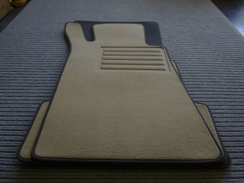 Rand braun W107 SL NEU $$$ $$$ Velours Fußmatten für Mercedes Benz R107 SL