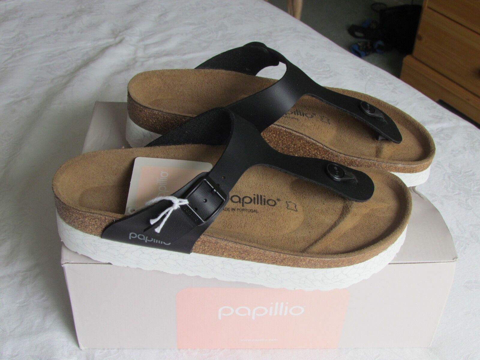 NEW Papillio Ladies Gizeh Black Platform Mules Sandals UK Size 7 EU 40