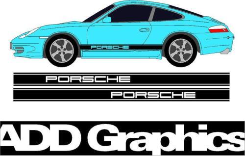 car emblems Motors Porsche Side stripes Decal Sticker graphic ...