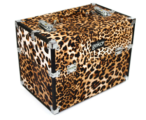 Leopard-Print-Vanity-Hard-Case-Easy-Clean-Beauty-Nails-Storage