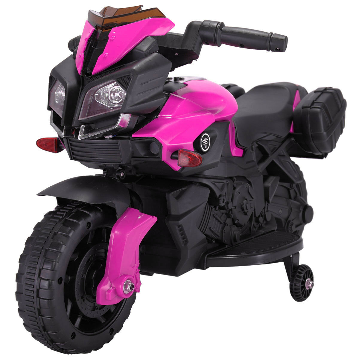Kids Ride On Motorcycle Battery 4 Wheel Bicycle Electric Toy New Pink