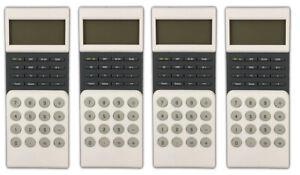 4x-Design-Taschenrechner-mit-Uhr-Tischrechner-Buerorechner-Rechenmaschine