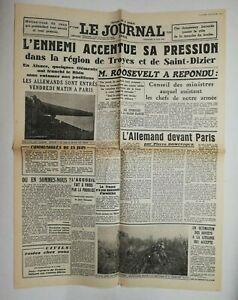N611-La-Une-Du-Journal-Le-journal-16-juin-1940-l-039-ennemi-accentue-sa-pression