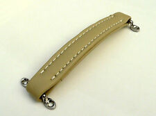 Guitar Amplifier Cream Leather look Strap / Handle for Ampeg speaker / amp