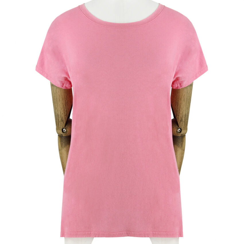 Balmain Candy Rosa Luxuriously Soft Pure Cotton Top T-Shirt FR36 UK8